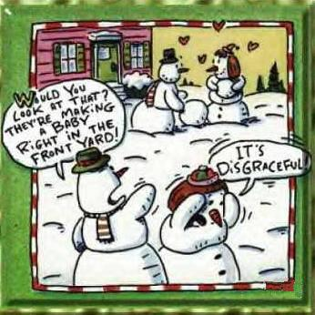 Snowmen Making Babies Christmas Comic