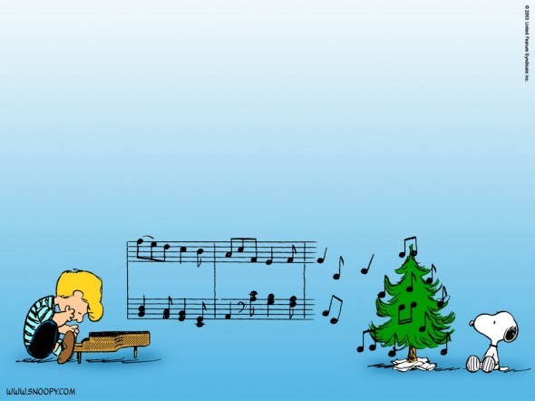 Linus and Snoopy Charlie Brown Christmas Wallpaper
