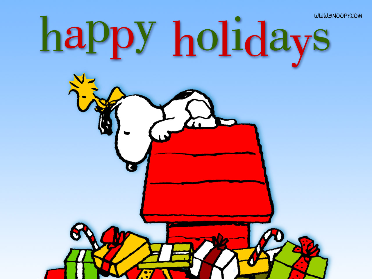 Snoopy Charlie Brown Christmas Wallpaper