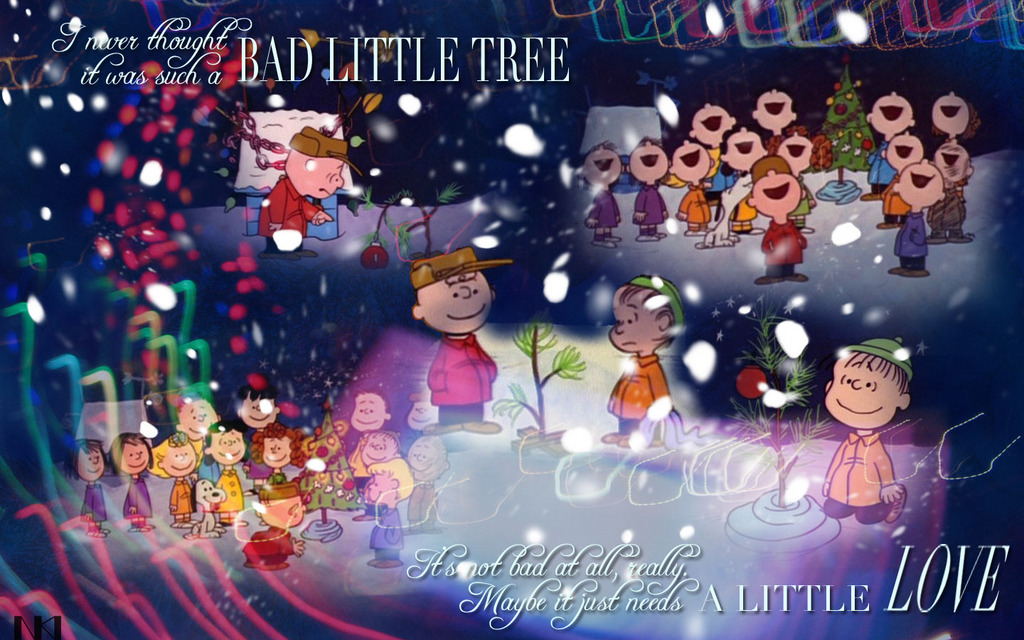 Charlie Brown's Tree Christmas Wallpaper