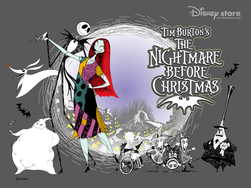 Grey Nightmare Before Christmas Wallpaper