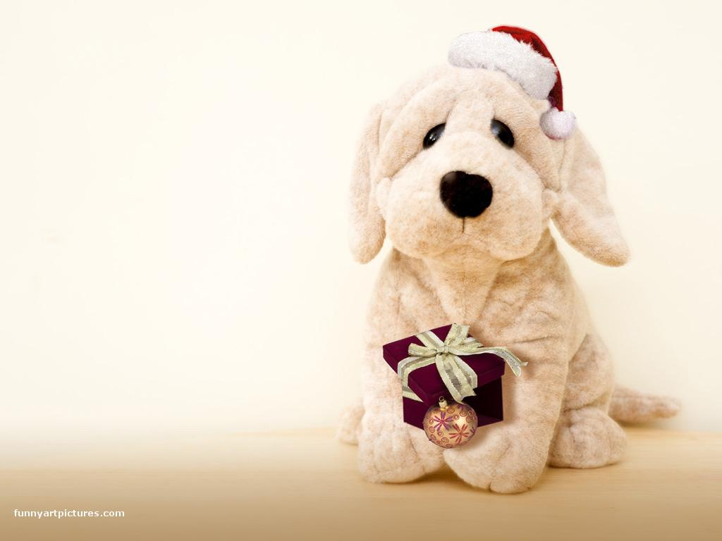 Cute Puppy Christmas Wallpaper