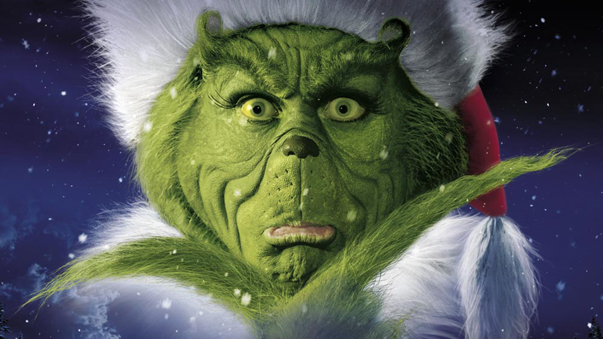 ... 416kB, The Grinch Portrait Christmas Wallpaper - Christmas Cartoon