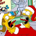 Homer and Comic Book Guy Christmas Wallpaper