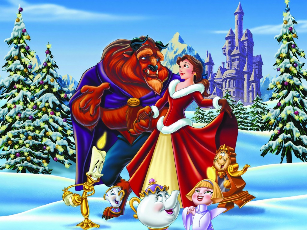 Beauty and the Beast Christmas Wallpaper : Christmas Cartoons