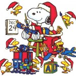 A Snoopy and Woodstock Christmas Wallpaper