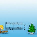 The Peanuts Music Christmas Wallpaper