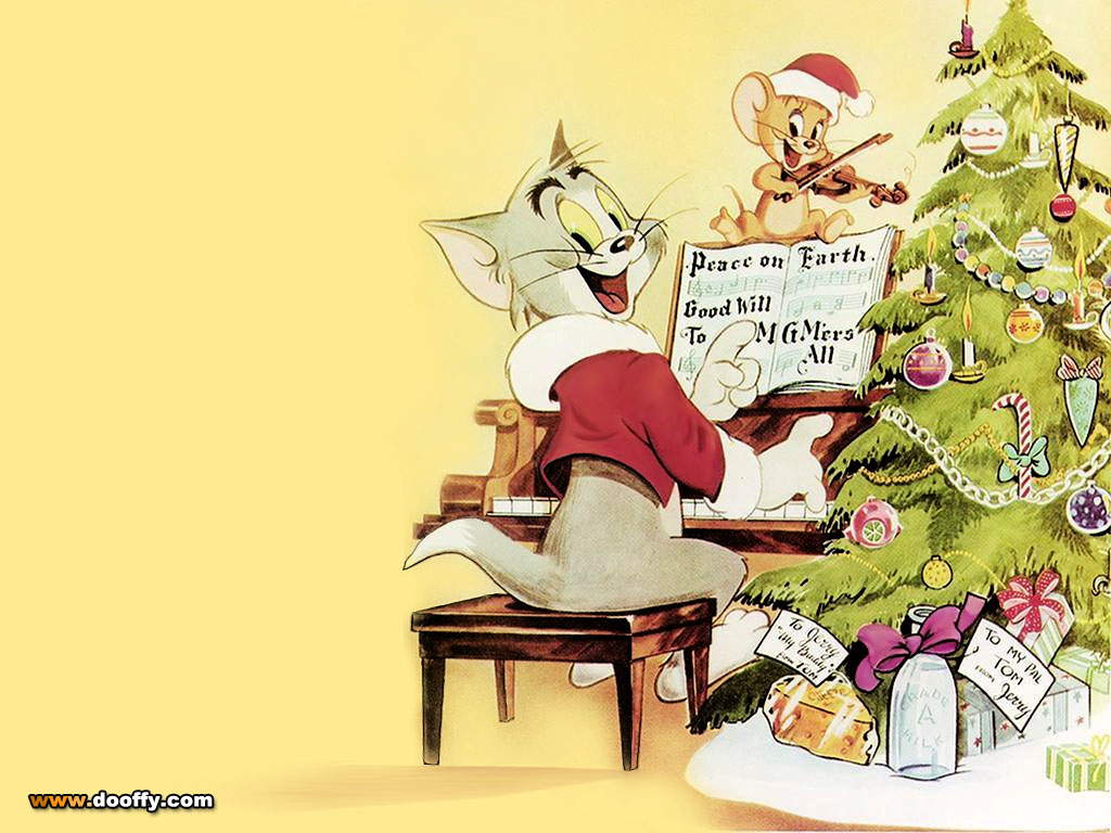 Tom and Jerry Christmas Wallpaper : Christmas Cartoons