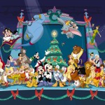 Disney Characters Christmas Wallpaper