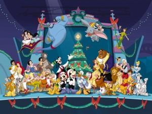 Disney Characters Christmas Wallpaper