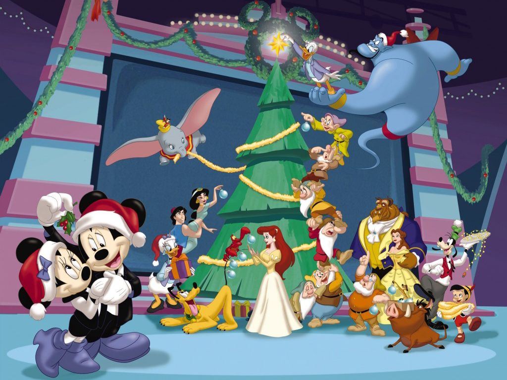 christmas decorating with mickey mouse christmas wallpaper