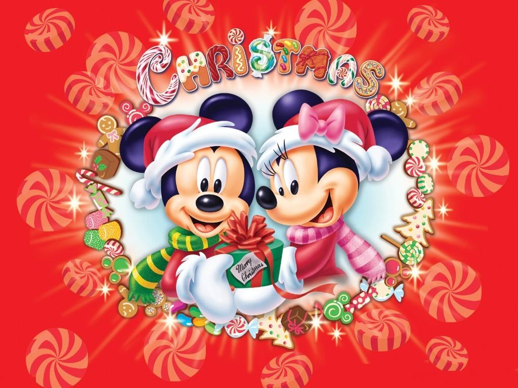 Mickey and Minnie Christmas Wallpaper : Christmas Cartoons