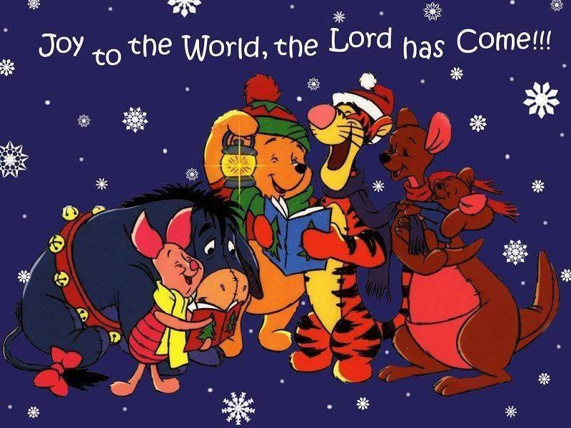 Winnie The Pooh Singing Christmas Carols Wallpaper Christmas Cartoons