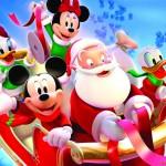 Mickey and the Gang with Santa Christmas Wallpaper