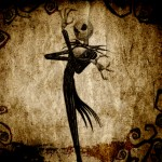 Jack Skellington in Deep Thought Nightmare Before Christmas Wallpaper