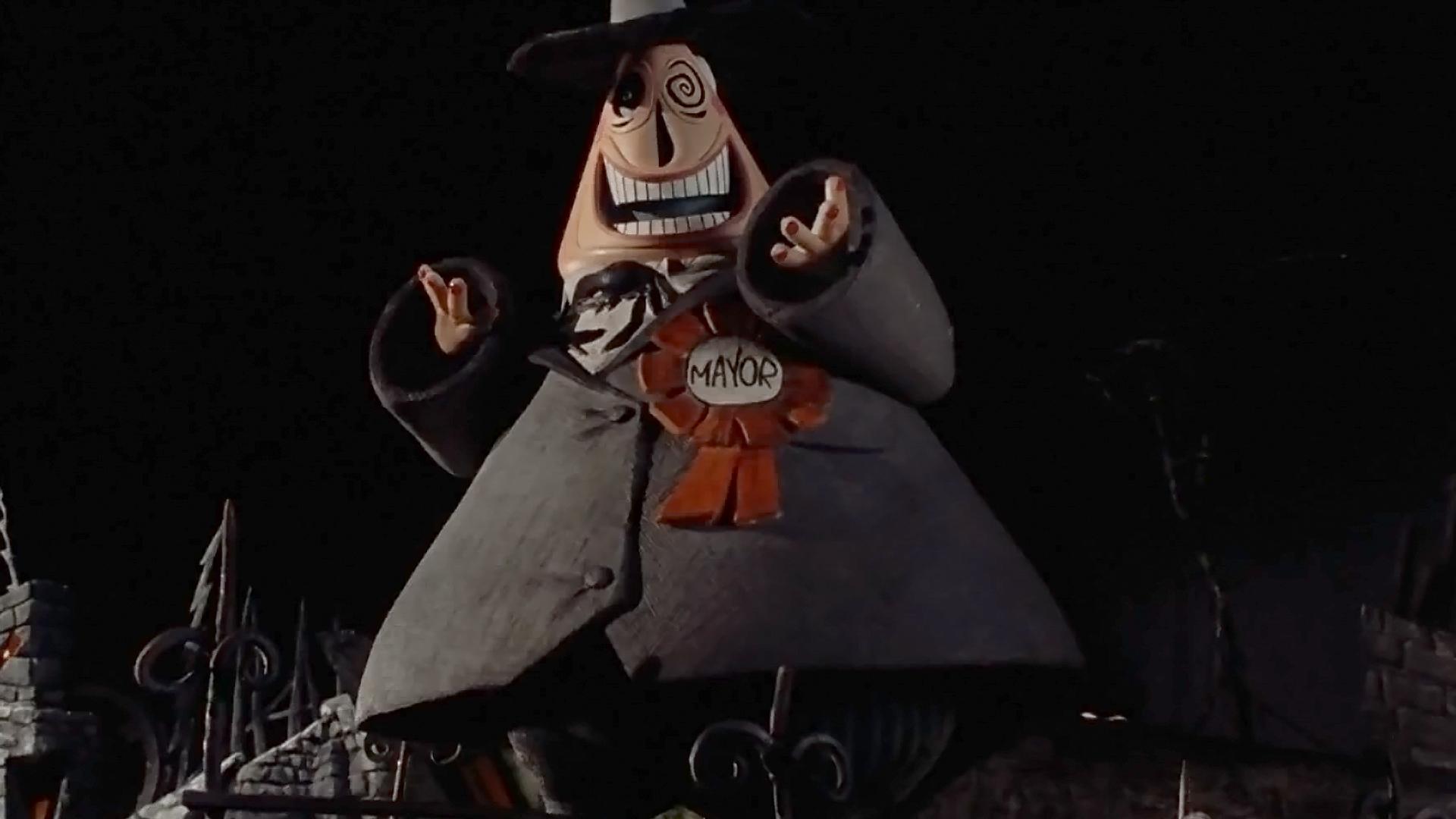 the mayor of halloweentown nightmare before christmas wallpaper