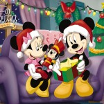 Mickey and Minnie Enjoying Christmas Wallpaper