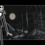 Jack Skelington in the Woods Nightmare Before Christmas Wallpaper