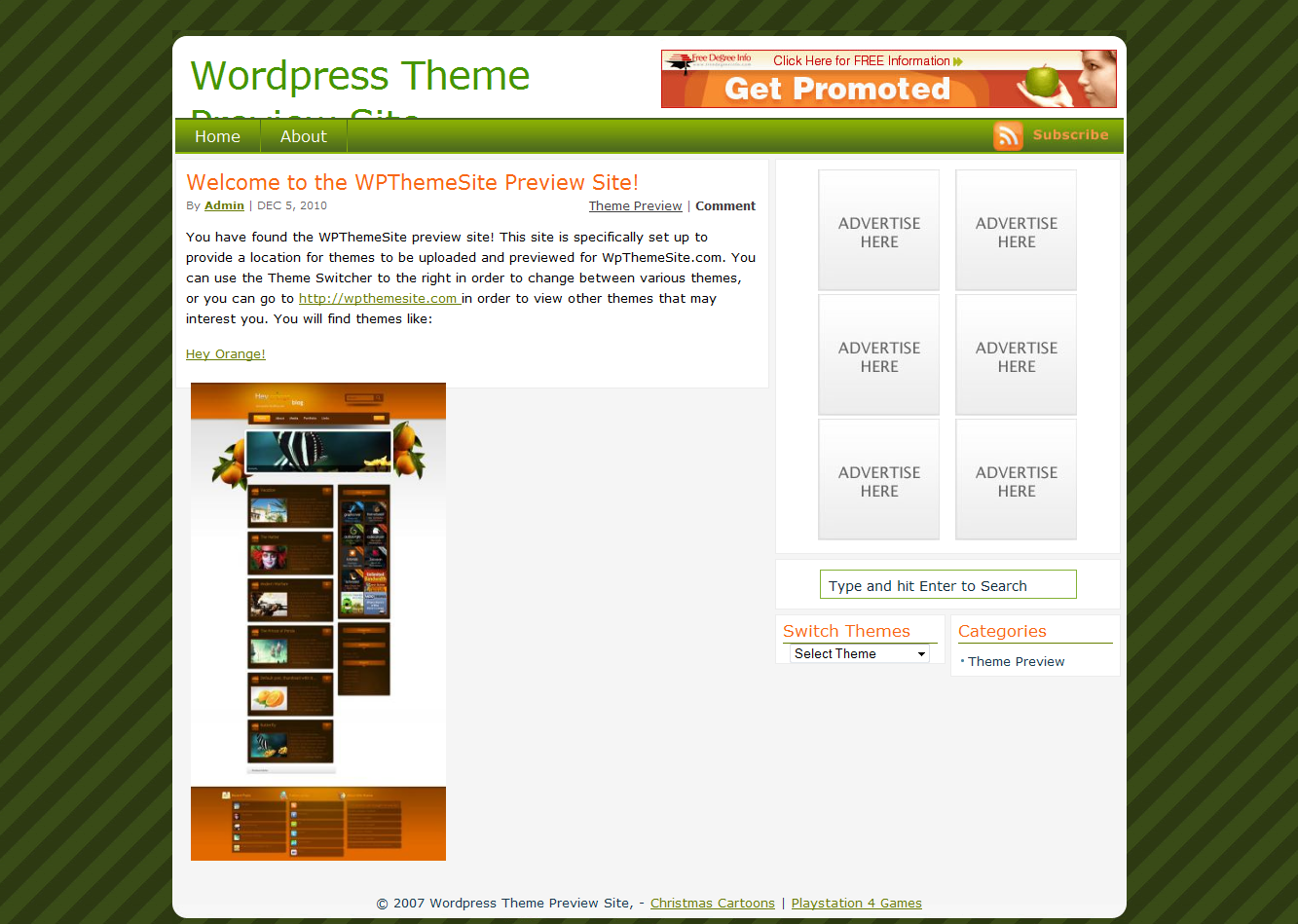 Passion Duo Green Christmasy WordPress Theme