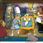 The Simpsons Nativity Scene Christmas Wallpaper