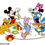 Christmas Scene with Mickey and the Gang Christmas Wallpaper