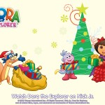 Dora the Explorer Christmas Wallpaper