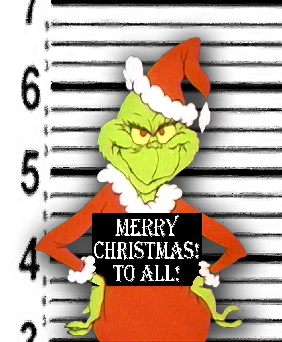 The Grinch Arrested Christmas Wallpaper