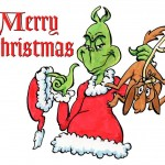 Grinch Wishing Merry Christmas Wallpaper