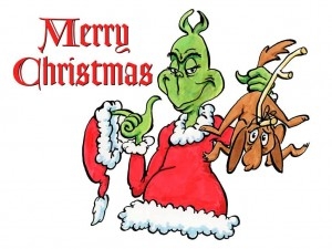 The Grinch Wishing You Merry Christmas