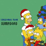 Merry Christmas from The Simpsons Wallpaper
