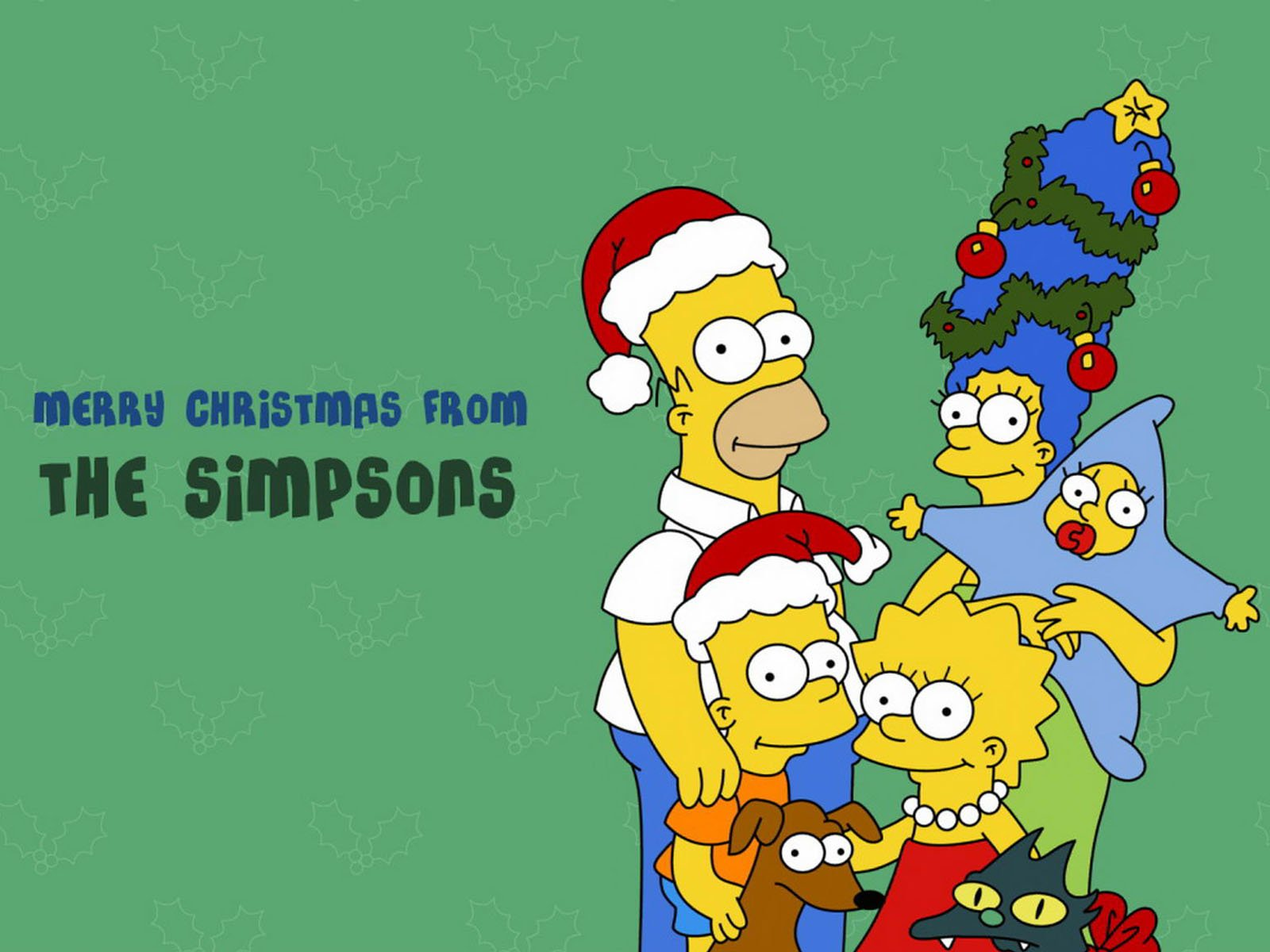 merry christmas from the simpsons wallpaper christmas cartoons