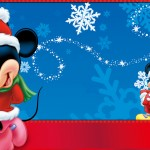 Mickey Loves Minnie Christmas Wallpaper