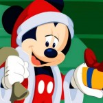 Mickey Mouse as Father Christmas Wallpaper