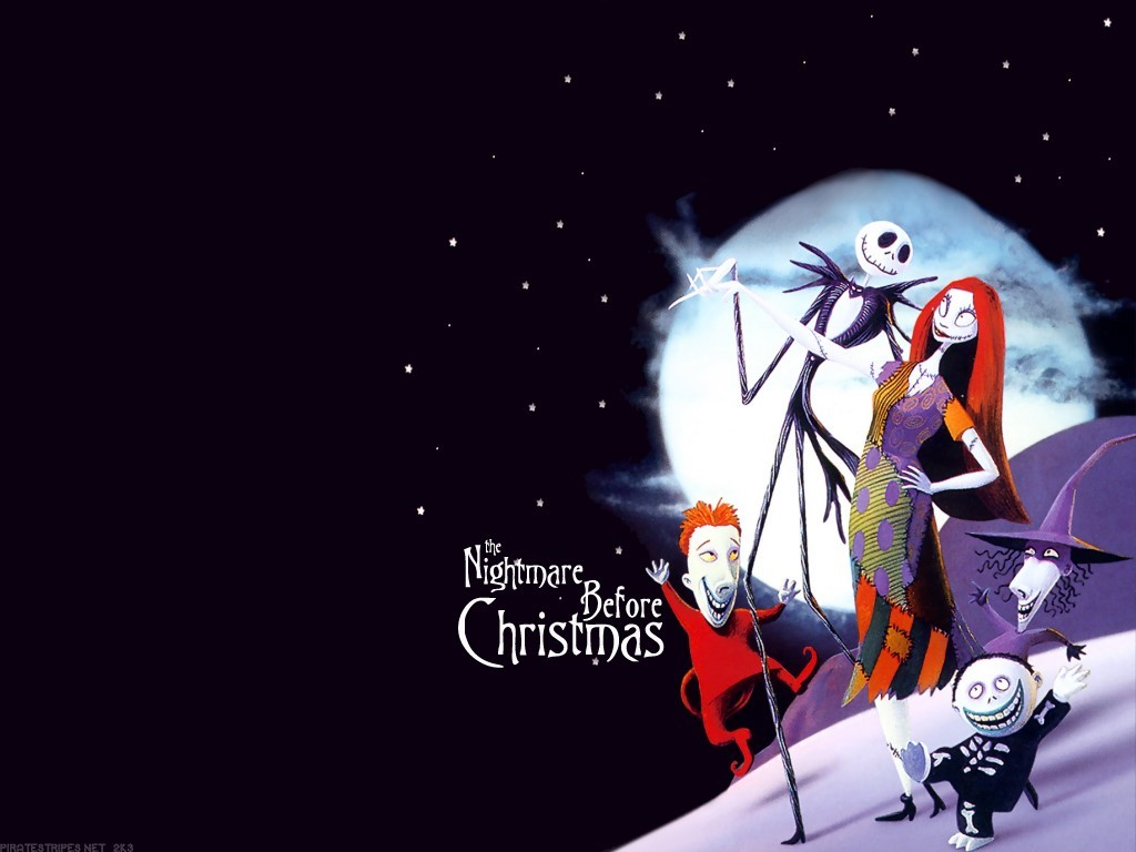 Jack and Sally Nightmare Before Christmas Wallpaper : Christmas Cartoons