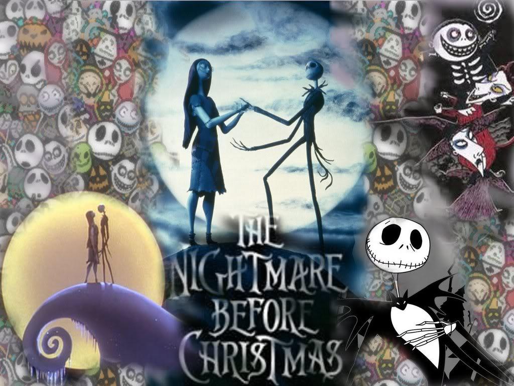 Jack and Sally Nightmare Before Christmas Wallpaper : Christmas Cartoons