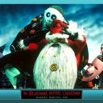 Santa with Lock Stock and Barrell Nightmare Before Christmas Wallpaper