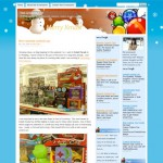 Christmas Snowmen and Ornaments Wordpress Theme