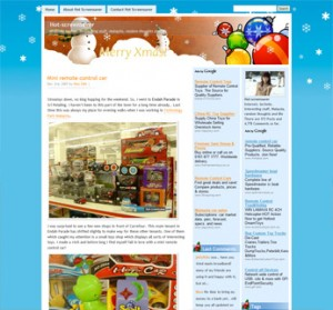 Christmas Snowmen and Ornaments WordPress Theme