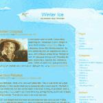Winter Ice Christmas Wordpress Theme