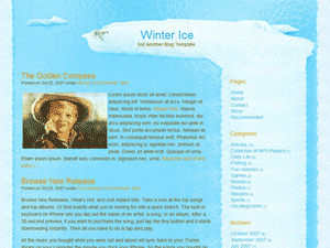 Winter Ice Christmas WordPress Theme