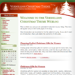 Vermillion Christmas Wordpress Theme