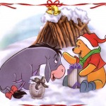 Winnie the Pooh and Eeyore at Christmas Wallpaper