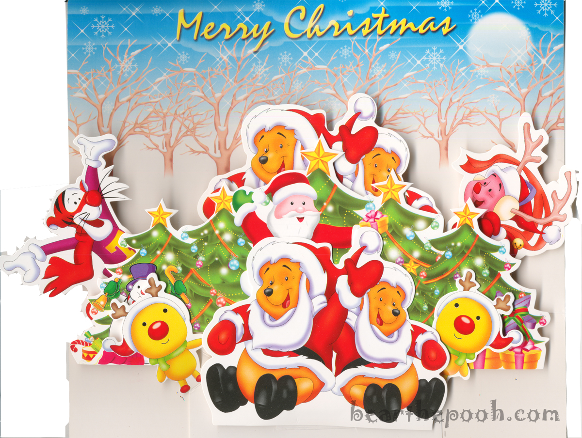 winnie the pooh wishes you a merry christmas wallpaper christmas
