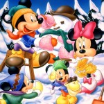 Mickey Mouse and Family Christmas Wallpaper
