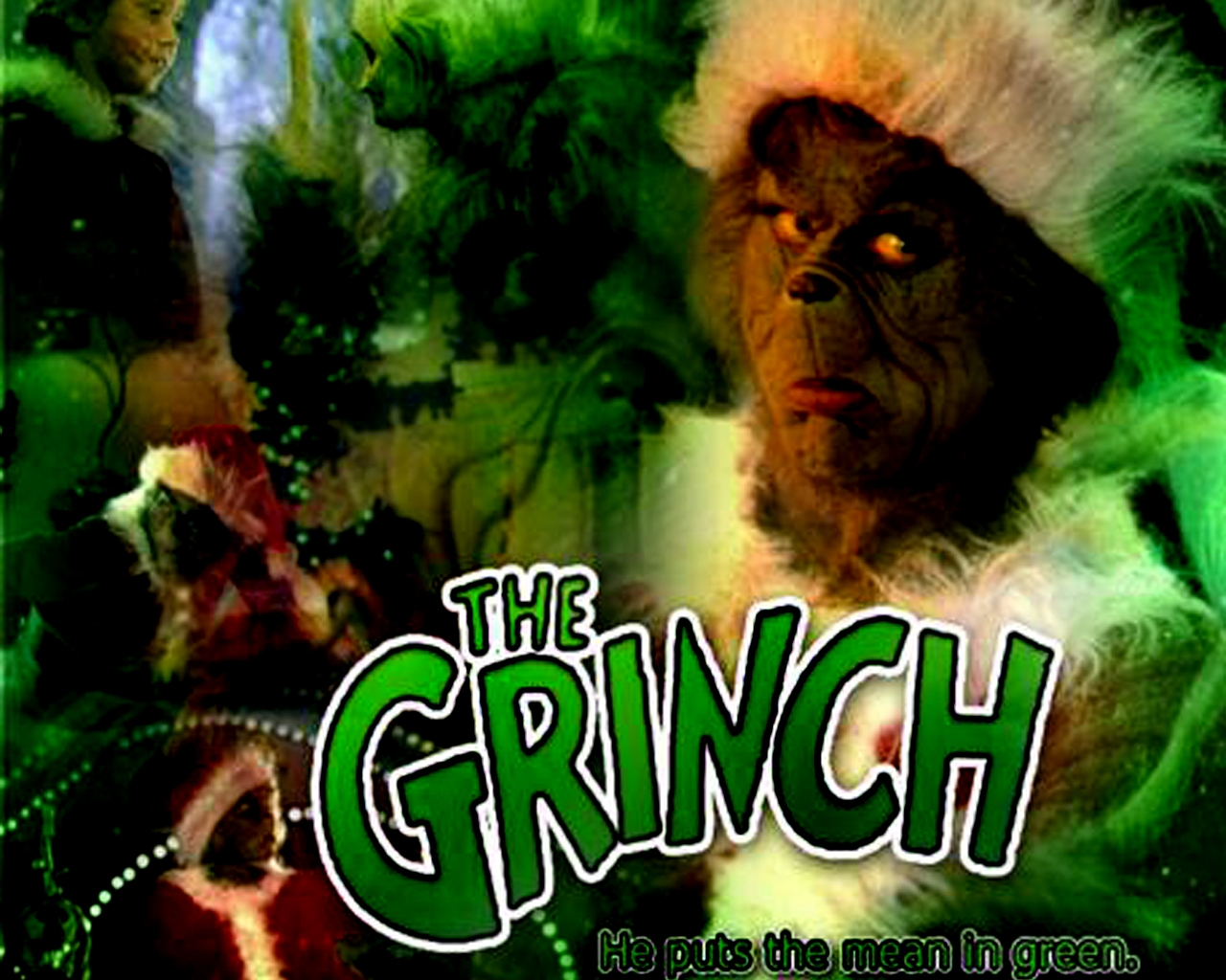 Jim Carey as The Grinch Christmas Wallpaper