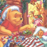 Winnie the Pooh and Piglet Christmas Wallpaper