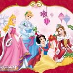 Disney Princesses Decorating Christmas Wallpaper