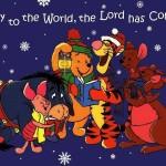Winnie the Pooh Singing Christmas Carols Wallpaper