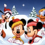 Mickey, Minnie, Donald, and Goofy Christmas Wallpaper