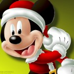Santa Mickey Mouse Christmas Wallpaper